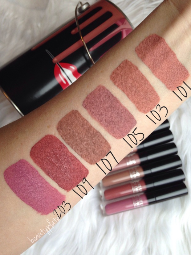 MUFE, Artist Liquid Matte, Nude Lipstick, Trending at Sephora, Artist Acrylip , Matte Liquid Lipstick, Make Up For Ever spring 2017, Make Up For Ever, Make Up For Ever swatches, swatches, beautyplate, mybeautyplate.com