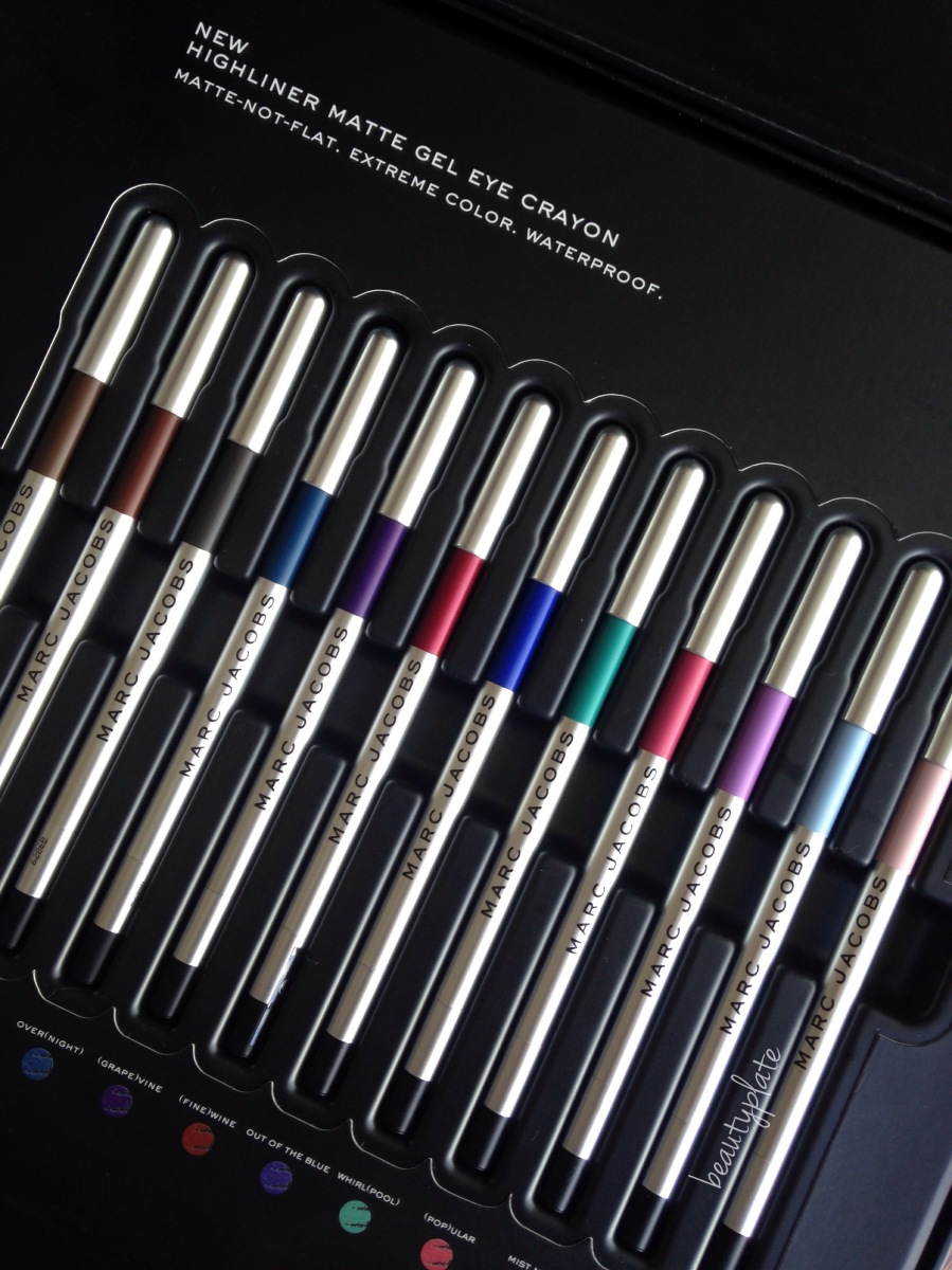 Marc Jacobs Beauty Highliner Matte Gel Eye Crayon  Review & Swatches