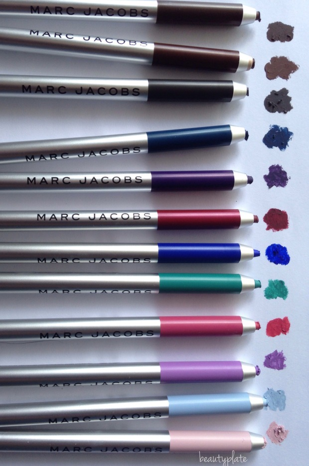 Marc Jacobs Matte Highliner, Marc Jacobs Beauty, Matte Highliner, Highliner, Marc Jacobs Gel Eyepencil, Gel Eye crayon, Matte eyeliner, Marc Jacobs spring 2017, Marc beauty, Marc Jacobs swatches, swatches, beautyplate, mybeautyplate.com